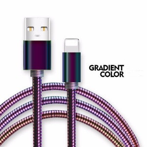 Multi Color Stainless Steel Flexible Data Sync and Charging Cords