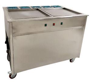 OC-1-0003 Flat Squared Pan Fried Ice Cream Roll Machine Popular Snacks