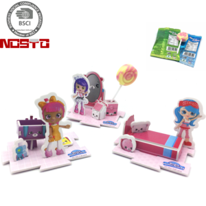 Popular Boys Gift Promotional 3D Puzzle Cartoon Candy Toy