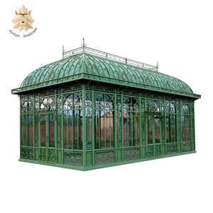 Popular design large antique metal large outdoor garden wedding used ornamental iron gazebo for sale