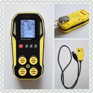 Portable CH4 CO2 H2S biogas detector to test the percentage of gas in the biomethane produced by the Biodigestor.