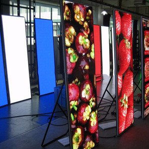 Poster Advertising Stand LED display/mirror LED display screen/ clothes store advertising led post led sign