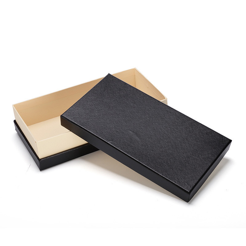 Pretty Luxury Rectangle Custom Logo Paper Box Wallet Purse Packaging Box For Gift