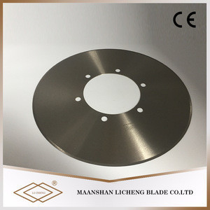 Rotary diamond pipe and foil cutter tungsten carbide circular blade