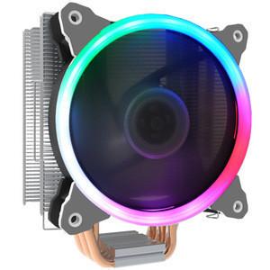 SATE- Computer Case Processor Heat Pipe CPU Cooler 4 Heat Pipe Cooling for  RGB fan  CC500