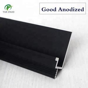 Stock Foshan OEM manufacturer furniture hardware L shape aluminum profiles