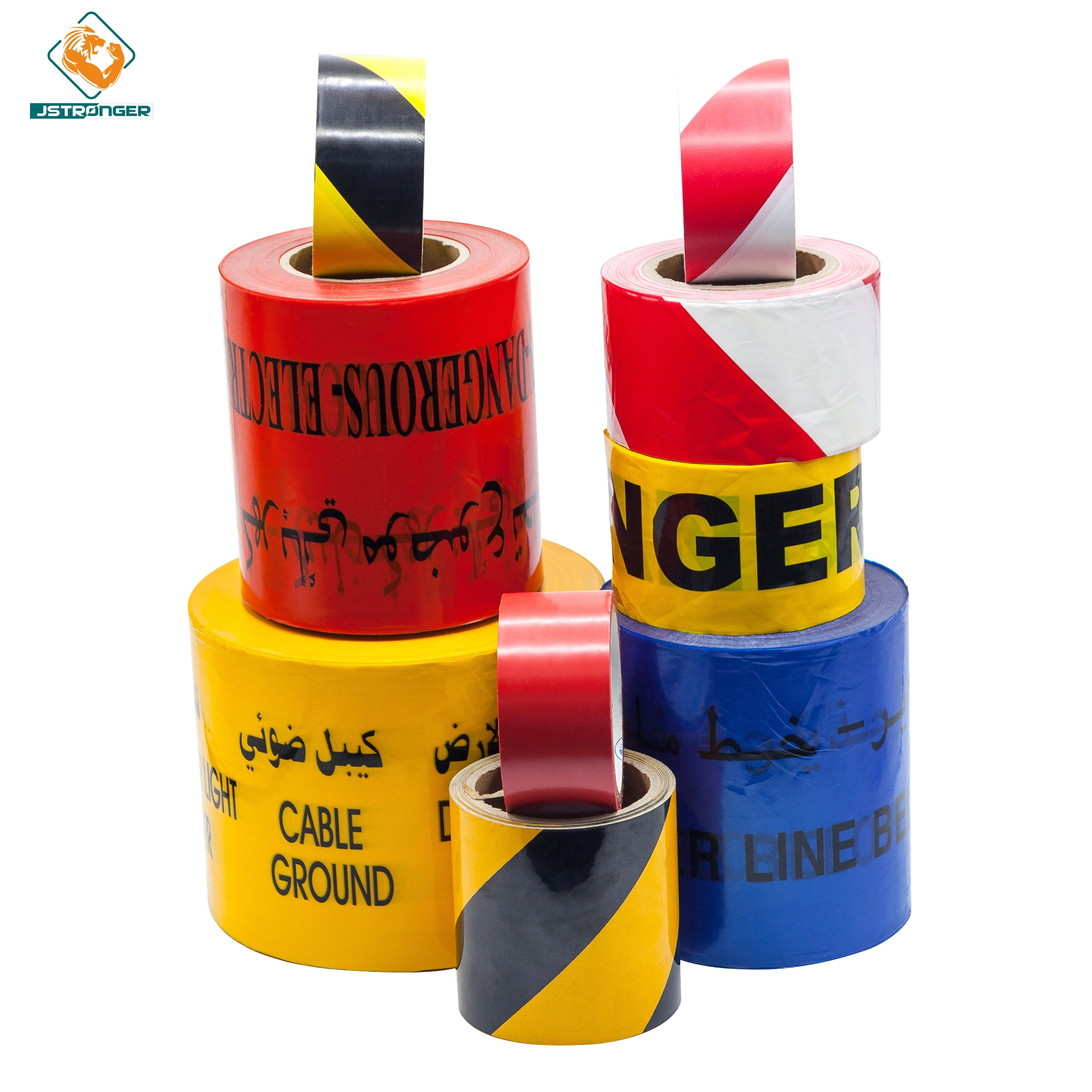 Strong underground non-detectable traffic warning tape