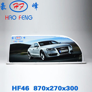 Taxi roof top advertising car led lights/taxi roof light box