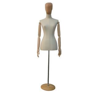 Wooden head fabric mannequin