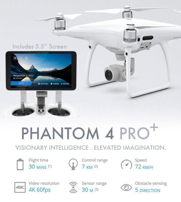 DJI Phantom 4 Pro Quadcopter Drone With 4K Camera