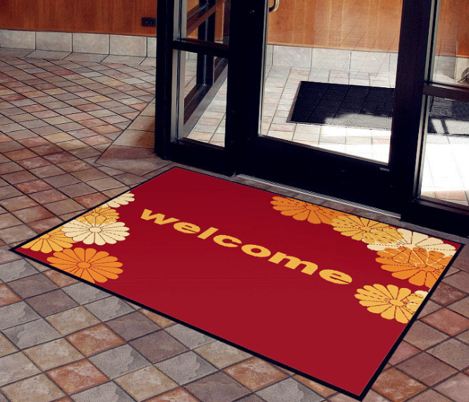 Nylon printed surface welcome door mat