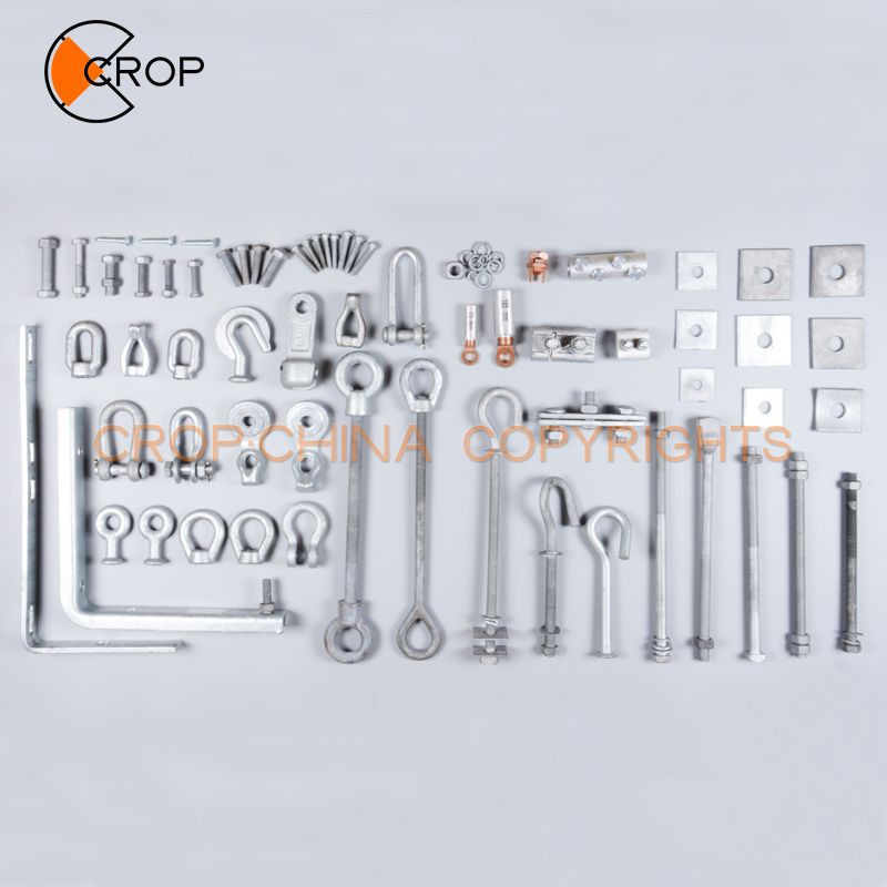 Square head carbon steel machine bolt with nut washer used for electric power fittings