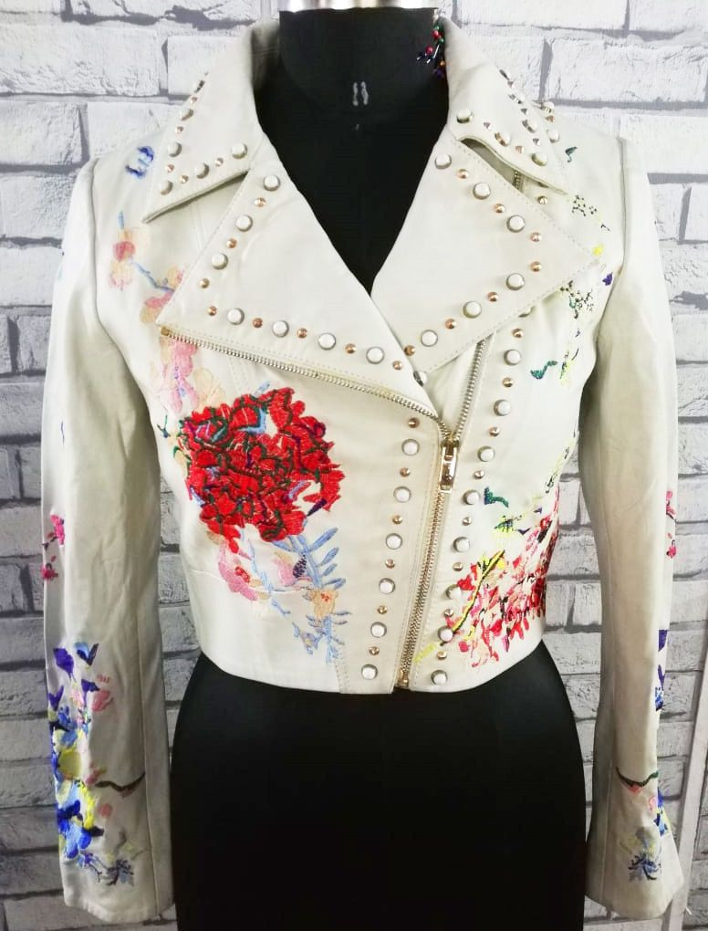 Ladies Leather Jacket white