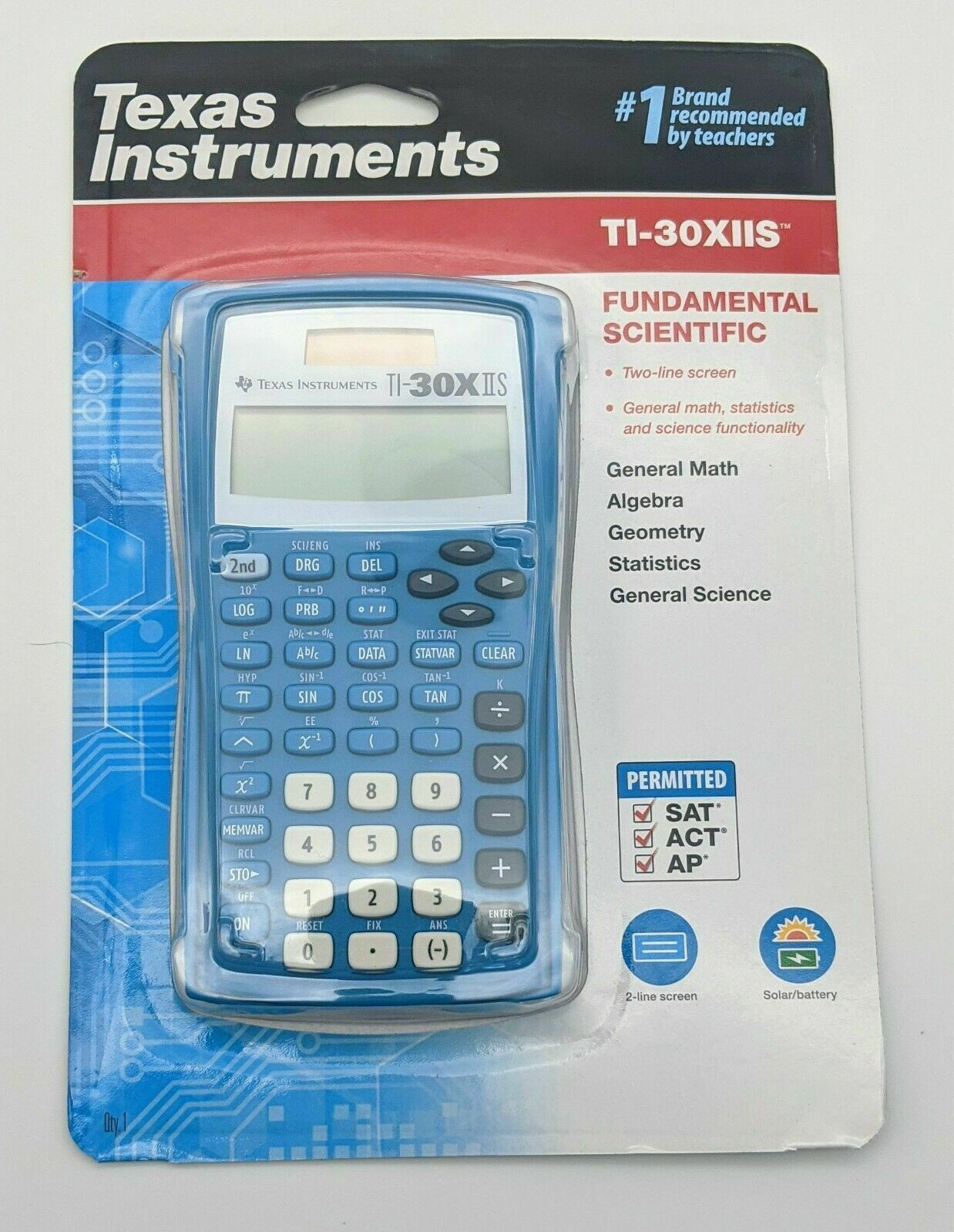 Import Texas Instruments TI-30XIIS TI-30X IIS Scientific Calculator, Black with Blue Accents from USA