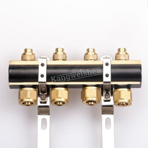4 Way Brass Manifold for Floor Heating System