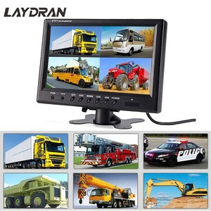 9 Inch Car Truck Rear view Tft Lcd Quad Display Monitor  Display 4 Way Connection Reversing Video Display