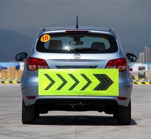 Alibaba supplier PVC led arrow warning sign reflective led car sticker