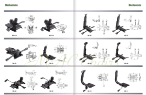 Butterfly recliner swivel mechanism locking and tilting for office chair