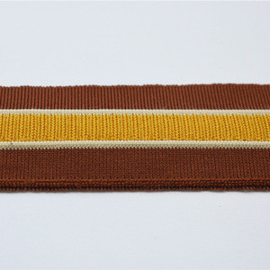 Chinese Factory polyester or cotton striped rib knit trim collar