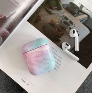 Factory Wholesale Earphone Accessories Marble Wireless Earphone Case  Protective Cover For Apple Air pods