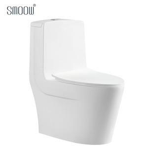 Floor standing one piece washdown ceramic wc toilet bowl in white