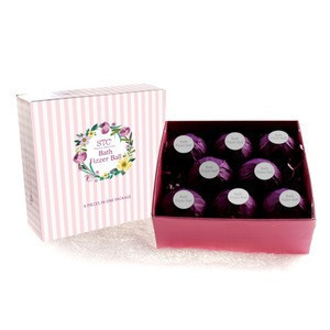 Foaming christmas  bath fizzies gift set  natural ingredients organic custom SPA OEM logo bath bomb with wrapping paper