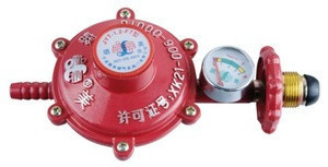 Gas low pressure regulator with gauge with ISO9001-2008