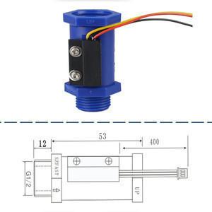 "Hall Effect Water Flow Sensor 1-30L/M G1/2"" Turbine Flowmeter for Dosage Controller Irrigation"
