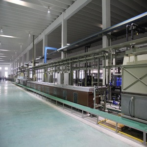 High speed bead wire bronze coating and plating production line with induction diffusion or lead bath