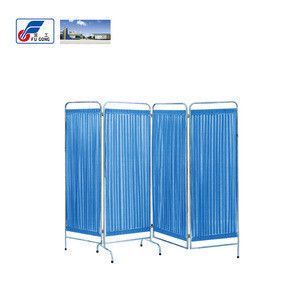Hospital Ward Nursing Equipment Stainless Steel 3,4 Panel Folding Screen