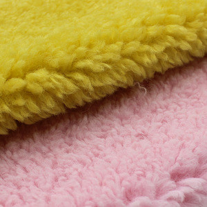 Hot sale 100% polyester plush fabric faux modacrylic fur material