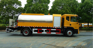 Intelligentized asphalt distributor 6m bitumen emulsion sprayer distributor truck