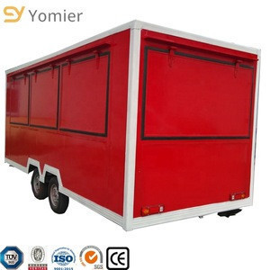 Large Space Food Concession Trailer/ Pizza Vending Truck With Sliding Windows