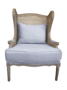 Living Room Furniture Antique White Natural French Wooden Armchair