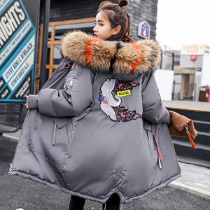 New women winter coat 2018 women in the long section of the hair collar thick warm Slim was thin fashion winter jacket women