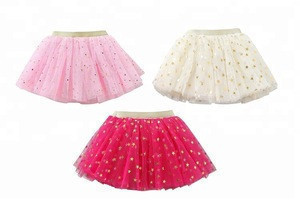 Wholesale custom little girl princess fluffy short skirt ballet baby tulle cute skirt