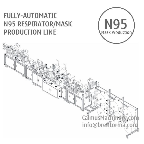 Fully-automatic N95 Respirator Mask Making Machine Production Line