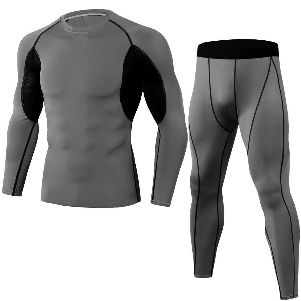 Men's Compression Set Workout Fitness Running Tracksuit Long Sleeves
