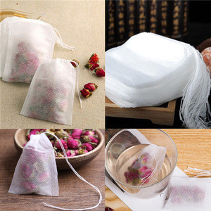 100Pcs/pack Tea bags 5.5 x 7CM Empty Scented Tea Bags With String Heal Seal Filter Paper for Herb Loose Tea Bolsas