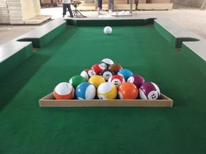 16-balls set packing footpool balls for Snooker Soccer, foot pool, Soccer-Billiards, soccer snooker