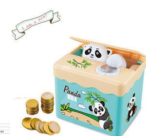 2017 New Arrival DIY sticker cat stealing money box speakinig plastic money safe box for kids
