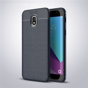 2018 New design Litchi TPU Leather mobile case For Samsung Amp Prime3 mobile cover