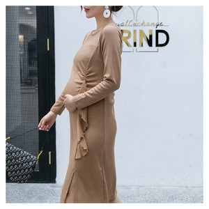 2019 new design fashion plus size  clothing maternity  wear dresses  for office and party photography