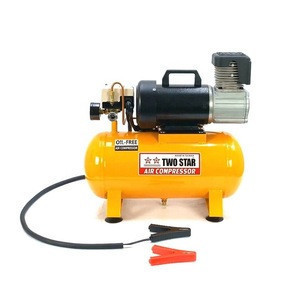 48V DC Weatherproof Professional Small Powerful Heavy Duty Truck Oil Free Air Compressor Machine with 12 liter tank