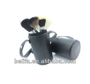 Black Cylinder Makeup Brush Sets