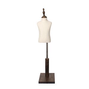 Cheap Hot Sale Wooden Base With Shoulders Durable Children Dress form Display Mannequin for Clothing Store