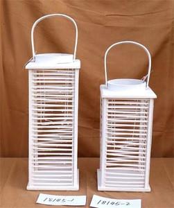 China cheaper wicker willow craft hand made white lantern