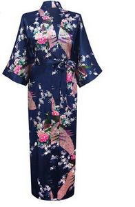 CL-WQ17 Sexy women hot sale long satin nightgown