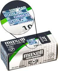 Coin battery maxell