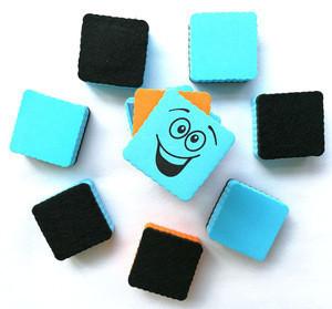 Custom Colours Board Eraser Dry Magnetic Whiteboard Eraser